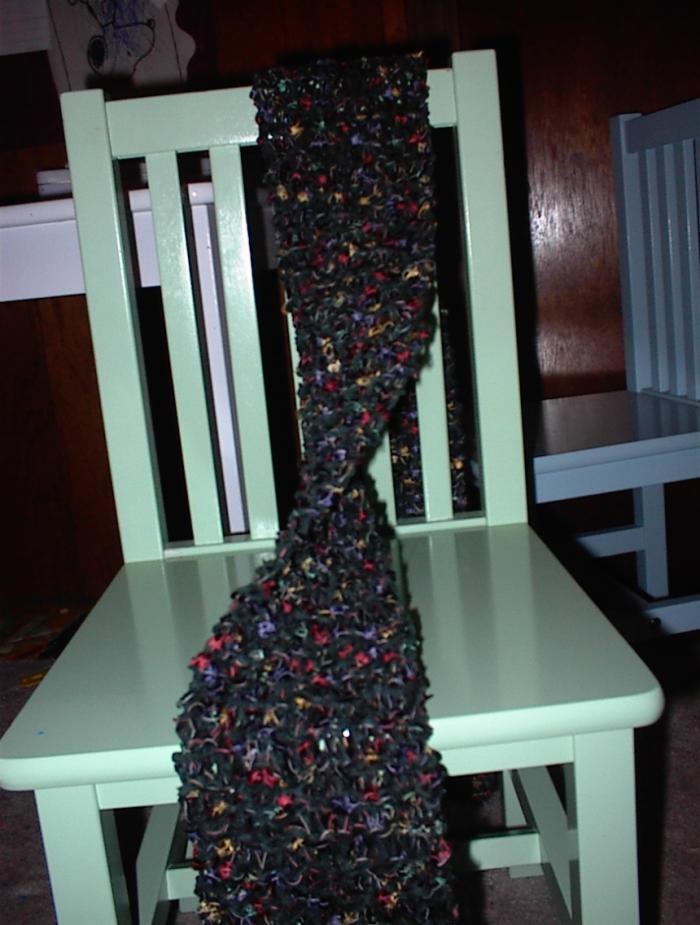 Cotton chenille scarf